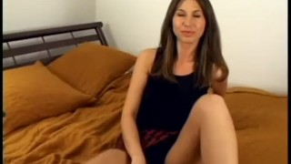 Your Big Dick Wont Fit in My Tight Ass  brunette threesome anal doggystyle facial shaved pussy ass fucking big cock homemade amateur