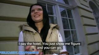 PublicAgent HD Hotel room POV sex with dark haired beauty