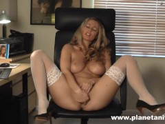 ANITA DARK - WHITE STOCKINGS WANK