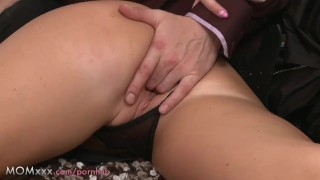 Busty brunette length mom his milf takes mature female