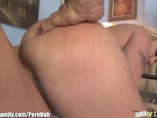 Mother and Daughter Blonde Bimbo Threesome