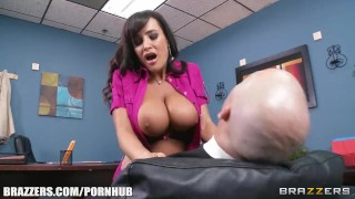 Big-tit MILF Lisa Ann Is slammed by hard cock on her boss's desk