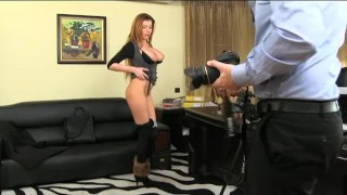 Preview 4 of FakeAgent Horny amateur sucks and fucks in casting