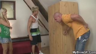 He cheating finds slutty his gf euro fuck