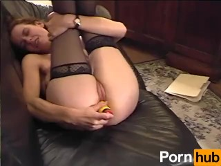 Cute Teen In Stockings Cums On Dildo