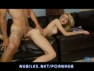 Petite blonde Chloe Foster pounded hard