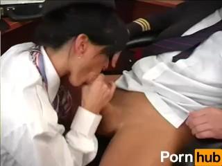 Preview 4 of Airline Stewardess Fucks Pilot