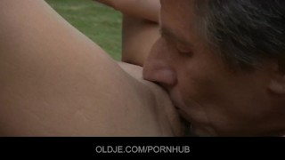Anal from an an blonde injection oldje gets sweet cunnilingus kissing