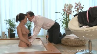 Preview 3 of MOM Couple make love in a hot tub