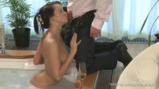 Preview 5 of MOM Couple make love in a hot tub