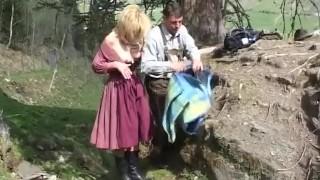 Mountain fuck fest blonde gets hard cock outdoor sex
