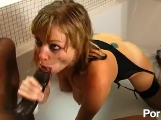 Biggest black cock in her ass