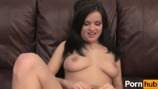 19 year old with big natural tits strips and masturbates for her audition