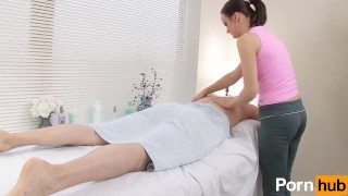 Masseuse babe gets fucked hard