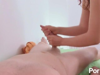 Sensual massage session