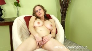 Sausha packer shows off her gig tits and hairy pussy Tits sex