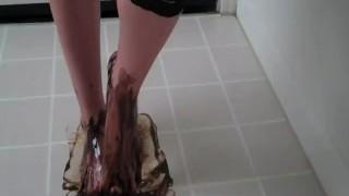 Hot cuckold Amber the feet goddess feet lingerie femdom cuckold fetish chastity humiliation
