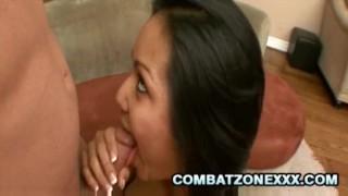 Teen Latina Lana Violet sits and bounces on cock