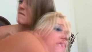 Blonde Sluts get fucked by hung dude
