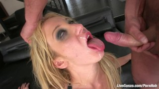 LiveGonzo Amy Brooke Sexy DP Blonde Offering Pleasure porno