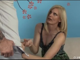 Force Feed Tube Cum Horny Milf Jerks Off Her Step - Son