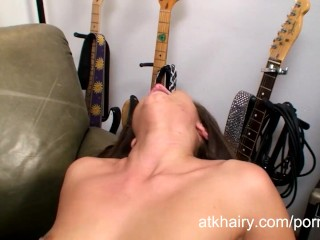 Hairy girl Cece Stone is horny and wants to fuck