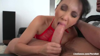 LiveGonzo Katsuni Brunette Asian asking for a Creampie tits dick sexy asian boobs blowjob hot slut small-ass beautiful creampie pussy brunette skinny big-dick livegonzo french