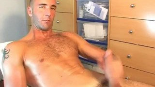 Guy french spite wanked him  in geting of masturbation straight