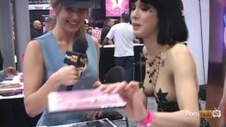 PornhubTV Asphyxia Noir Interview at eXXXotica 2012