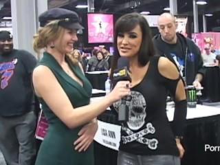 PornhubTV Lisa Ann Interview at eXXXotica 2012