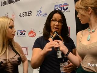 PornhubTV Aiden Starr Interview at 2013 AVN Awards
