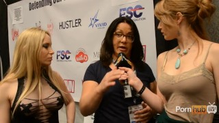 PornhubTV Aiden Starr Interview at 2013 AVN Awards