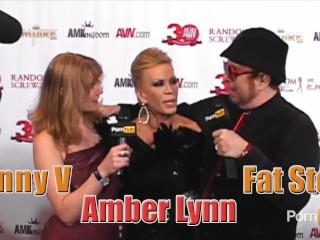 PornhubTV Amber Lynn Red Carpet Interview at 2013 AVN Awards