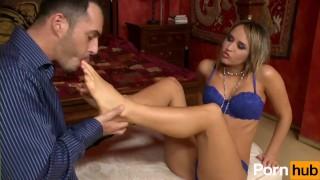 Aleska Diamond Gives A Foot-Job Big tits