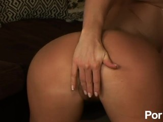 Sexy Milf Undresses And Masturbates