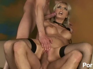 Nick toretto porn blonde babe takes two cocks, pornhub.com french fake tits blonde cumshot