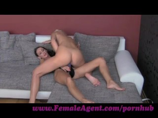 Preview 5 of FemaleAgent. Hot blondes and strap ons