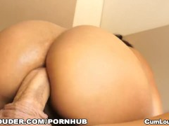 Noemilk rides a huge Dick in her tight Asshole