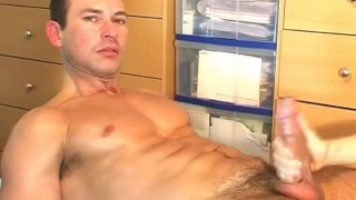 Cute wanked swimmer  guy a get masturbation massage