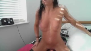 Babe With Abs Dance and Rides Dildo HD