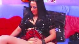 Yummy Tranny in Uniform Doing a Hot Webcam Show