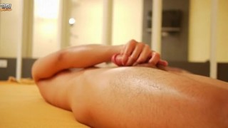 On morning masturbation asian twink male young