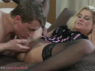 Share My Wife Tubes MOM Hairy MILF makes love to her man