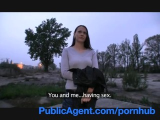 Sex After Party Video PublicAgent Pretty brunette fucked outside in the middle of nowhere