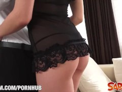 Hot Russian babe Henessy anal fuck at Saboom