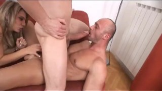 Bi Now Gay Later 2 - Scene 4  ass fucking euro blonde blowjob cumshot tattoo small tits big dick bi couch heels shaved anal pornhub.com pussy licking bubble butt
