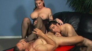 Bi Partisan 3 - Scene 1  strap on big tits raven blowjob bi cumshots brunette cougar mother anal stockings pussy licking ass fucking 69 pegging pornhub.com