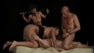 Bi Sex Club - Scene 2 pegging pornhub.com bi fmm blowjob blonde shaved cumshots threesome big-tits anal vintage pussy-licking ass-fucking