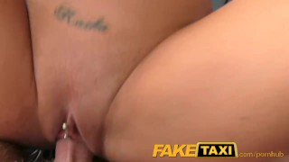 FakeTaxi Sex starved career woman in lunch break sex tape Pov cowgirl