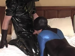 Spandex Spanking And Sucking - Scene 4